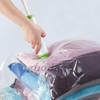 Quality Vacuum Storage Bag Suction Compression Clear Clothes Dust proof Useful
