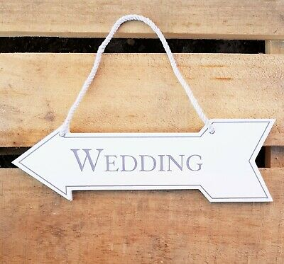 Amore Wooden Hanging Arrow Wedding Sign Gift
