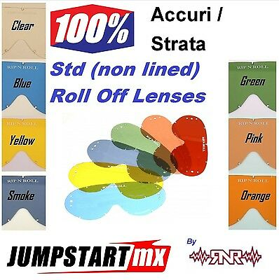 100% Accuri Strata Goggle Roll Off Lens Clear Blue Yellow Smoke