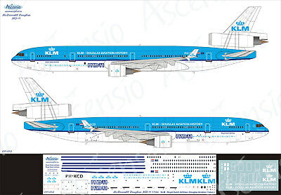 McDonnell Douglas MD-11 1/144 KLM decal by Ascensio 011-012