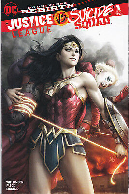 JUSTICE LEAGUE vs SUICIDE SQUAD 1 - VARIANT COVER (MODERN AGE 2017) - 9.6