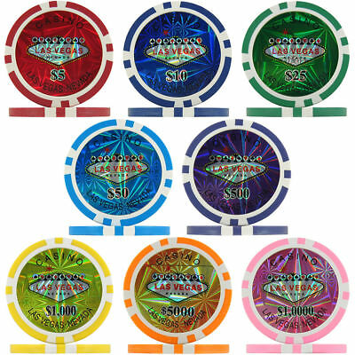 Reflective Las Vegas Golf Ball Markers Poker Chip Choose Your Colour
