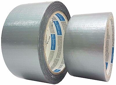 Woven Tape Adhesive Duct Silver 48mm All Purpose 160my Weather-Resistant