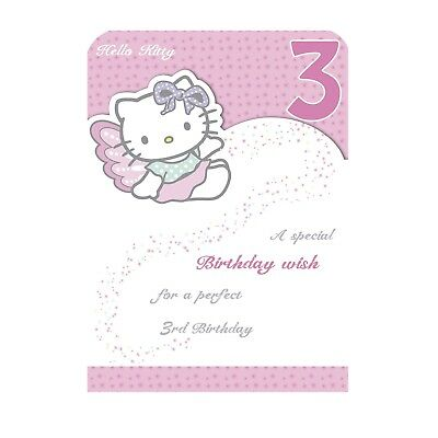 Age 3 3rd Third Happy Birthday Card Granddaughter Grandson Son