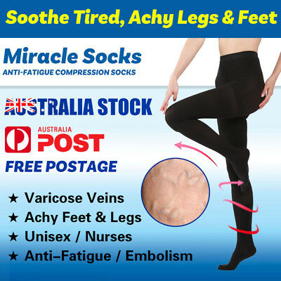 23-32 mmHg Medical Compression Pantyhose Stockings Varicose Travel Flight Socks