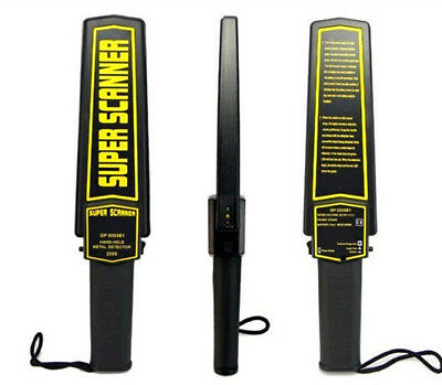 Portable Security Hand Held Metal Detector Wand Scanner Audio Alert + LED Indica