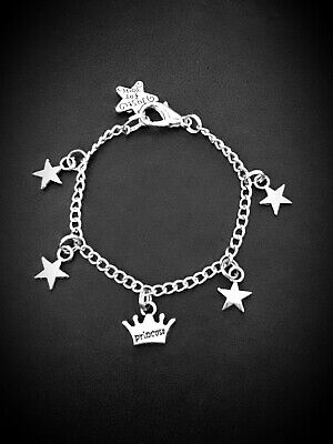 NEW Little Girl's Silver Plated BRACELET Childrens PRINCESS stars girlie Gift