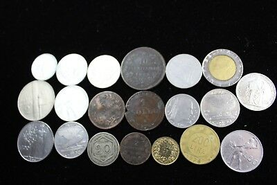 Italy 20 assorted coins   lot H 655
