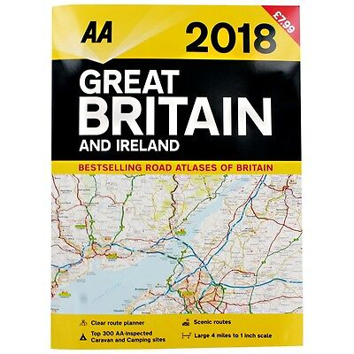 2018 Great Britain and Ireland Road Atlas - Road Map : WH2-R6A : PBL633 : NEW