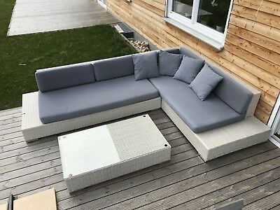 xxl sitzgruppe polyrattan gartenlounge set sitzgarnitur gartenm bel sitzecke eur 250 00. Black Bedroom Furniture Sets. Home Design Ideas