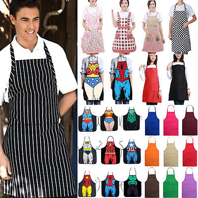 Women Men Waterproof Kitchen Apron Chef Butcher BBQ Cooking Baking Catering Pub