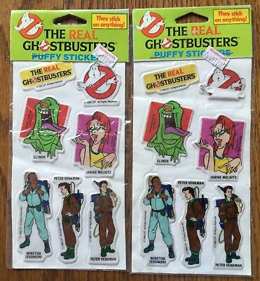 The Real Ghostbusters Puffy Stickers From 1986 Lot Of 2 (Vtg/rare/htf)