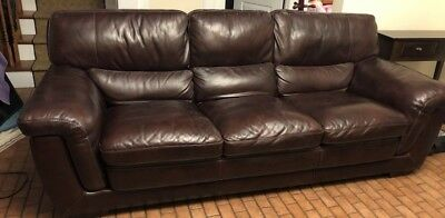 Admirable Used Leather Sofa And Loveseat Dark Brown Raymour Flanigan Short Links Chair Design For Home Short Linksinfo