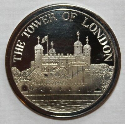 Tower Of London Solid Nickel-Silver-Coin In Original Box-1981