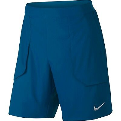 "Nike Men's Dri Fit Court Flex Blue 9"" Tennis Shorts 854931 433 S, M"