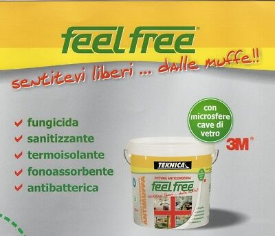 Pittura Lavabile Antimuffa Anticondensa Termoisolante - Feel Free Ml 750