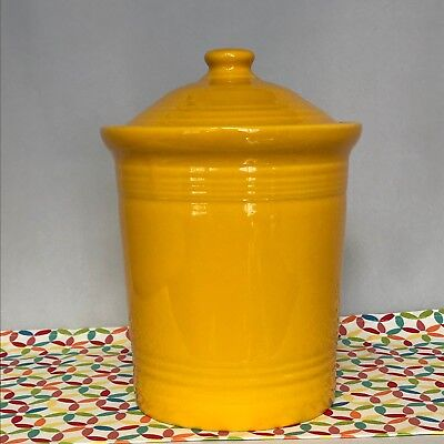 Fiestaware Daffodil Large Canister with Lid Fiesta Yellow Kitchen Crock