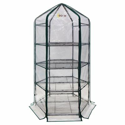 Ogrow Ultra-Deluxe 4 Tier Hexagonal Flower Planthouse Greenhouse
