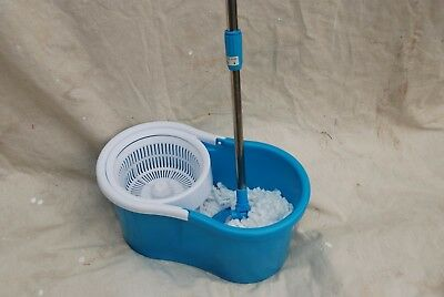 Spin Mop system like 360 includes 2 mop heads & bucket/lt blue-NEW IN BOX