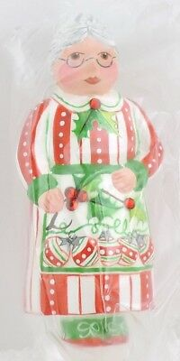Patricia Breen MINI MRS CLAUS SCULPTURE Striped