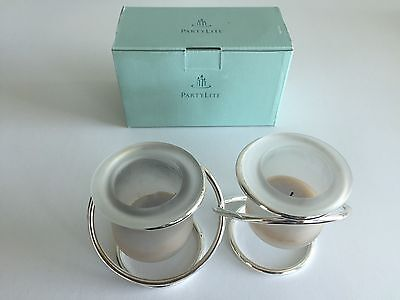 PartyLite Candle Holders P7207 Silver Plate Gemini In Box & PARTYLITE CANDLE HOLDERS P7207 Silver Plate Gemini In Box - $2.39 ...