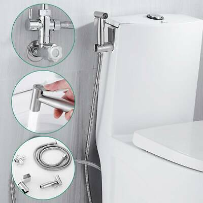 Stainless Steel Toilet Shower Hand Held Bidet Sprayer Douche Shattaf Diverter