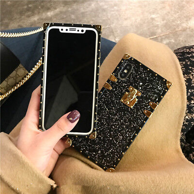 Shockproof Girl Bling Glitter Sparkle Cover Case for iPhone XS Max XR 8 7 6 Plus