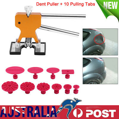 Car Dent Hail Dint Damage Repair Remover Puller Removal Tool Kit & 10 Tabs AU BT