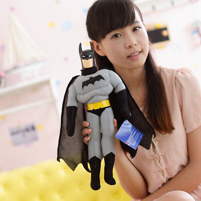 Mattel 45Cm Marvel Batman Action Figures Doll Plush Soft Stuffed Kid Playset Toy