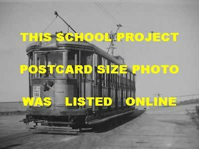 Newcastle Nsw 1945 Tram #285 Beach Photo $5