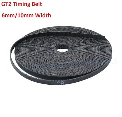 Rubber/PU Steel Wire GT2 6mm/10mm Open Timing Belt For 3D Printer GT2 Pulley
