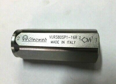 "Hydraulic One Way Check Valve 1/8"" To 2"" 400 Bar Made In Italy"