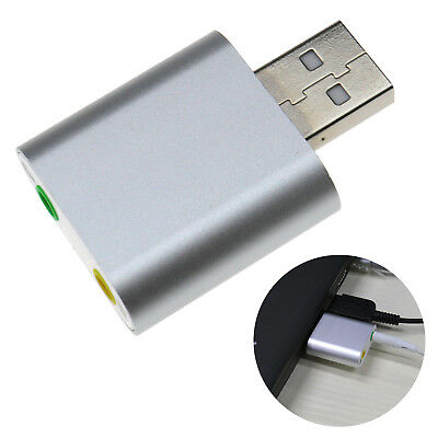 USB 2.0 7.1 Channel 3D Stereo Sound Card Audio Adapter Fit For Mac PC Phone