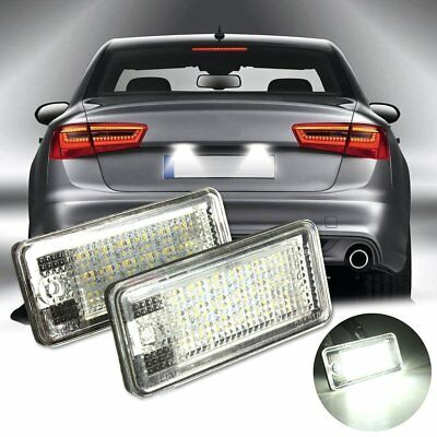 2 Placchette A Led Luci Targa 18 Led Specifiche Per Audi A3 S3 A6 6000K No Error