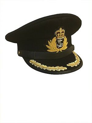 Black Royal Navy OFFICER CAPTAIN Hat/cap size: 58  / L