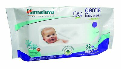 Himalaya Herbals Gentle Baby Wipes (72 Sheets) Free Worldwide Shipping