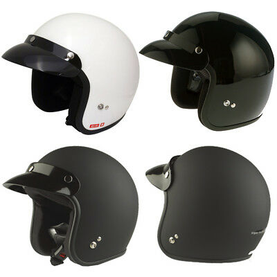 Viper Rs04 Casque Moto Casque Jet Bol Scooter Crash Noir Blanc Xs