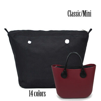 0352a849e52b New O bag waterproof Lining Insert Canvas Zipper Pocket for Classic Mini  Obag