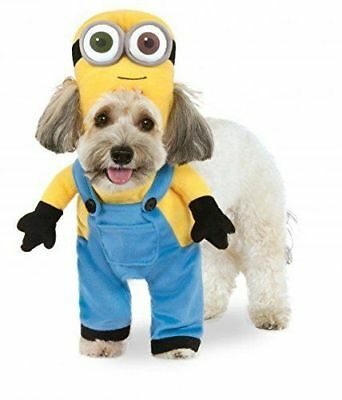 Genuine Despicable Me 3 Minion Bob Dog Fancy Dress Costume Pet Clothing with Hat