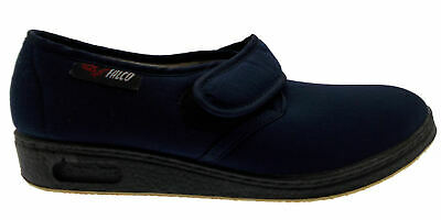 slipper Velcro stretch cotton blue physiotherapy extra large Article 193 Gaviga