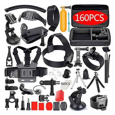 Accessories Pack Case Chest Head Floating Monopod GoPro Hero 7 6 5 4 3 2 160pcs