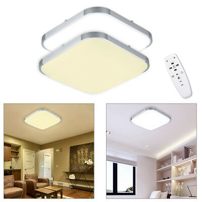 W SQUARE DIMMABLE LED Ceiling Light Panel Bedroom Kitchen Living - Dimmable led kitchen ceiling lights