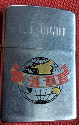 Zippo GSI M/V Caribbean Seal Party 2918, 1979  personalized  R. L. Hight Lighter