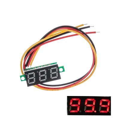 DC 0-100V Voltmeter Panel Voltage 3-Digital LED Red Digital Display Mini S6H2C
