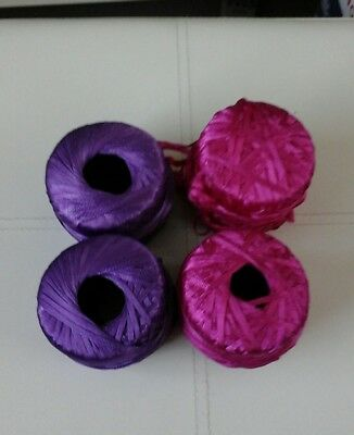 4 x 50g cones machine knit ribbon please see description and photos