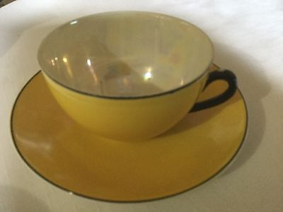 Slovakia  Cup And Saucer    Yellow/iridescent