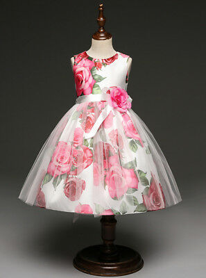cd02f61d62 Vestito Bambina Abito Cerimonia Rose Girl Party Roses Princess Dress DG0051