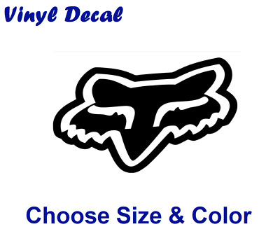 Fox Racing Head Logo Decal | High Quality Waterproof Vinyl Die Cut Sticker