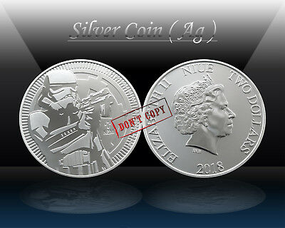 NIUE 2 Dollars 2018 - NZ Mint (STAR WARS - Stormtrooper) Silver 1oz coin (Ag999)