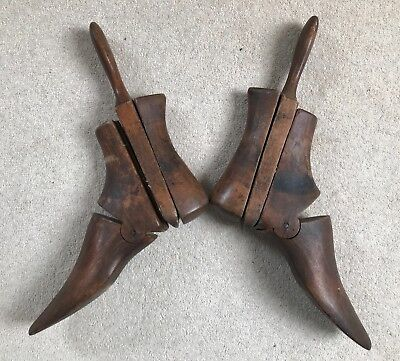 Vintage Boot Stretchers 3 part Trees. Genuine Match. Treen